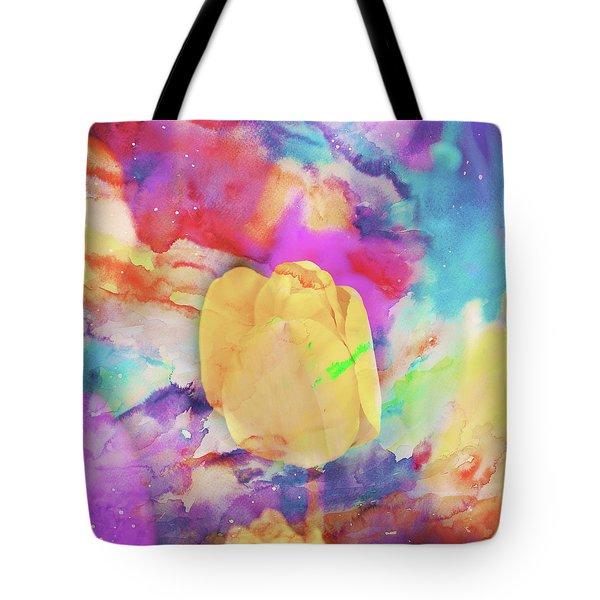 Yellow Tulip Tote Bag by Toni Hopper