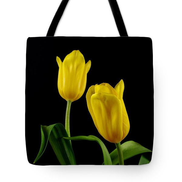 Tote Bag featuring the photograph Yellow Tulips by Dariusz Gudowicz