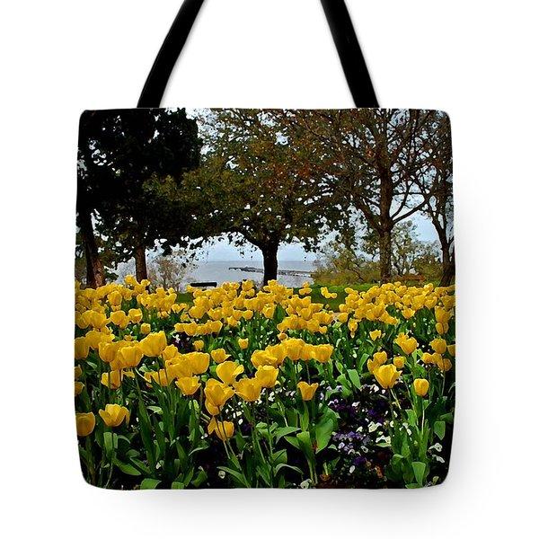 Yellow Tulips Of Fairhope Alabama Tote Bag