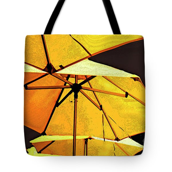 Yellow Umbrellas Tote Bag