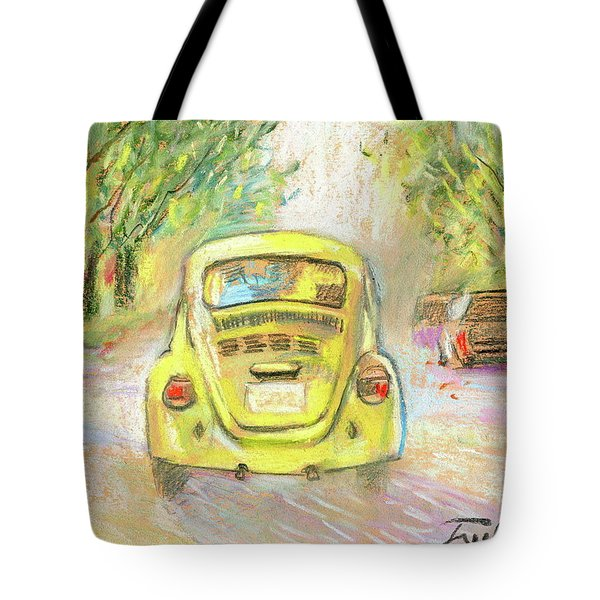 Yellow Vw Tote Bag by Ron Wilson