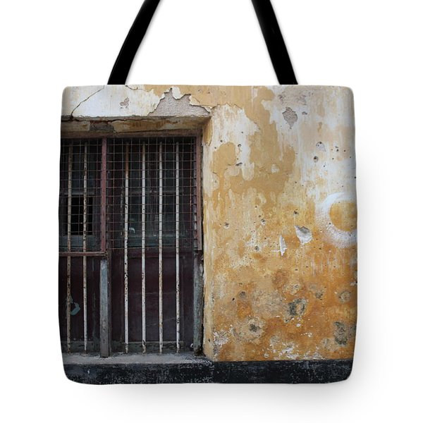 Yellow Wall, Gated Door Tote Bag