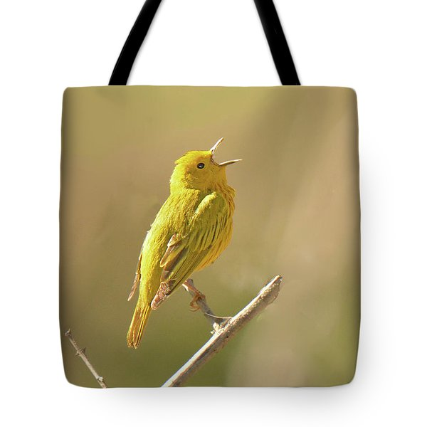 Yellow Warbler Song Tote Bag