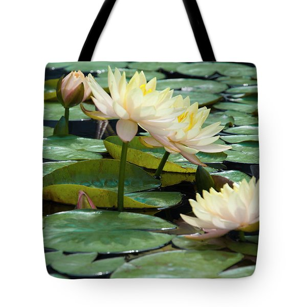 Yellow Water Lillies - Longwood Gardens Tote Bag