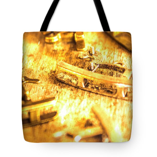Yellow Weathered Rockers Tote Bag