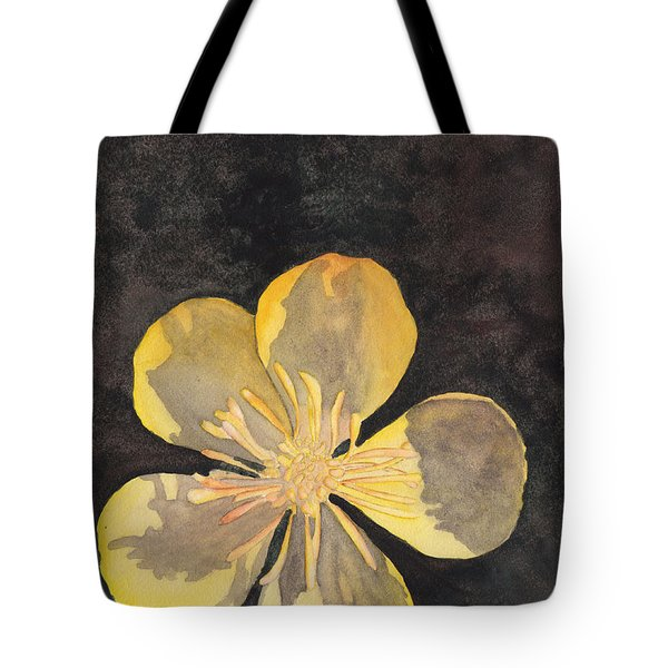 Yellow Wild Flower Tote Bag by Ken Powers