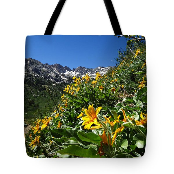 Yellow Wildflowers Tote Bag by Alan Socolik