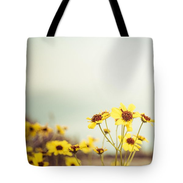 Tote Bag featuring the photograph Yellow Wildflowers by Mary Hone