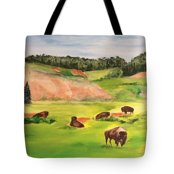 Yellowstone Tote Bag by Ellen Canfield
