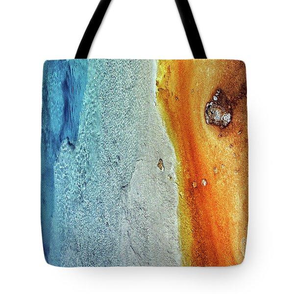 Yellowstone Abstract Tote Bag