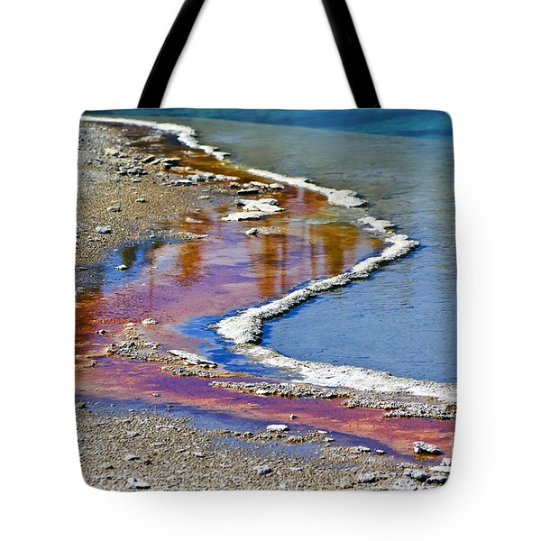 Yellowstone Abstract I Tote Bag by Teresa Zieba