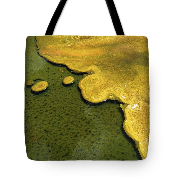 Yellowstone Art. Yellow And Green Tote Bag