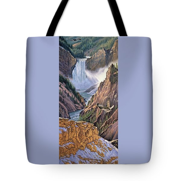 Yellowstone Canyon-osprey Tote Bag by Paul Krapf