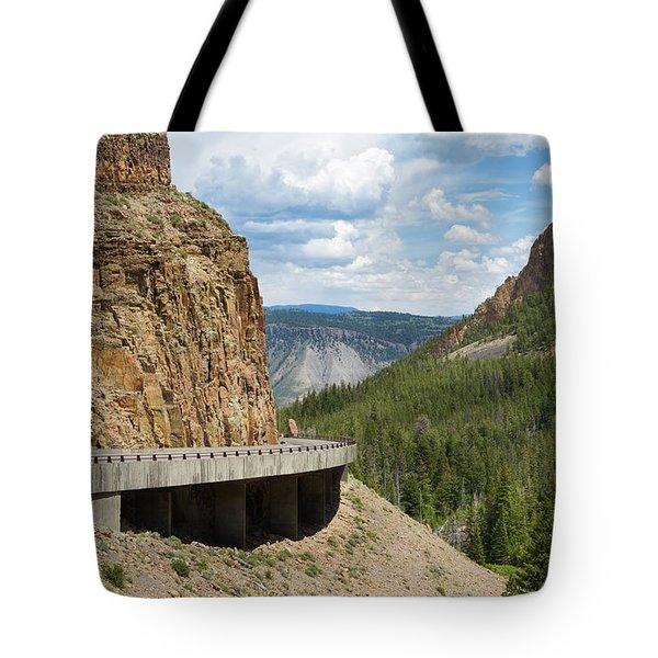 Tote Bag featuring the photograph Yellowstone Drive by John M Bailey