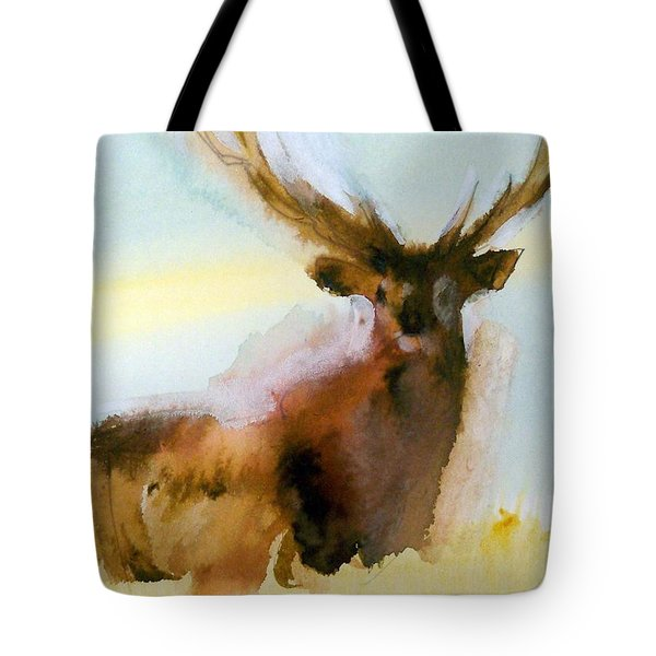 Yellowstone  Elk Tote Bag by Ed Heaton