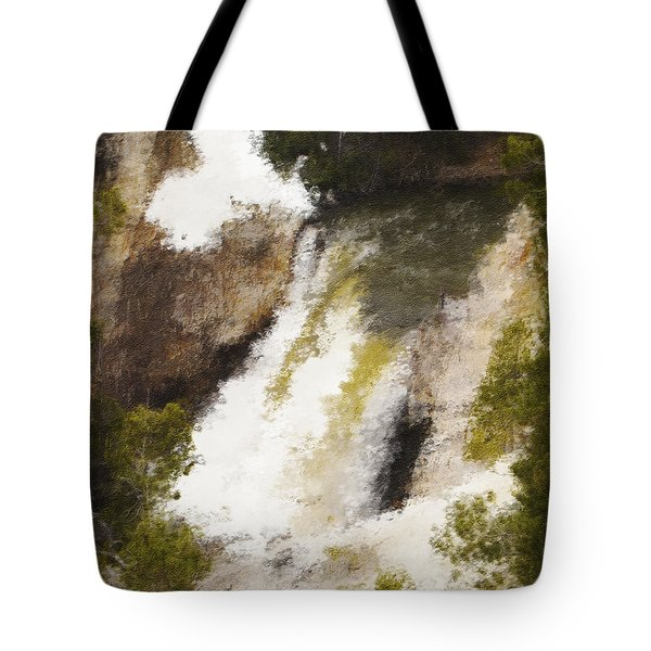 Yellowstone Falls Tote Bag by Jo-Anne Gazo-McKim