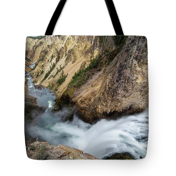 Tote Bag featuring the photograph Yellowstone Falls by Wesley Aston