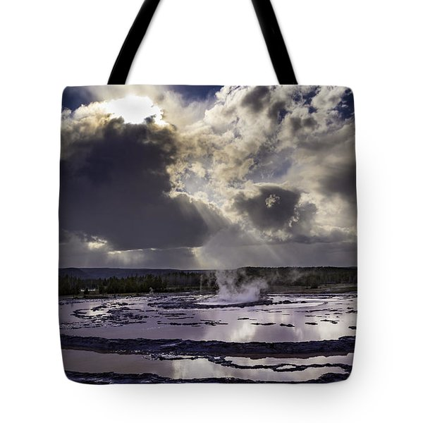 Yellowstone Geysers And Hot Springs Tote Bag by Jason Moynihan