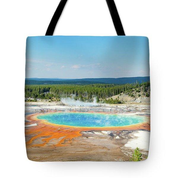 Yellowstone Grand Prismatic Spring  Tote Bag