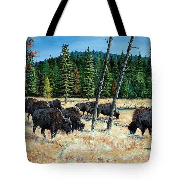 Yellowstone Grazers Tote Bag