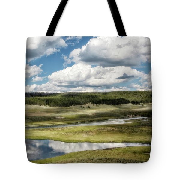 Yellowstone Hayden Valley National Park Wall Decor Tote Bag