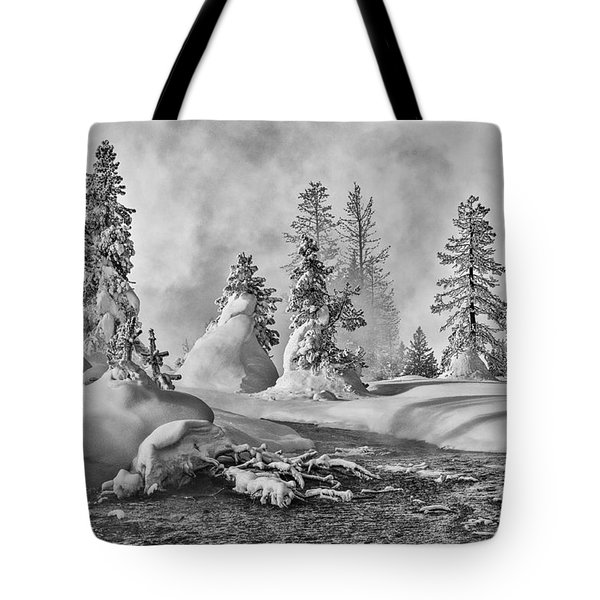 Yellowstone In Winter Tote Bag by Gary Lengyel