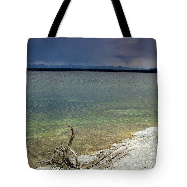 Tote Bag featuring the photograph Yellowstone Lake by Dawn Romine