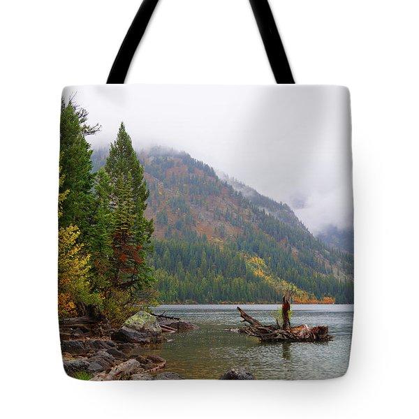 Yellowstone Lake Fall Tote Bag