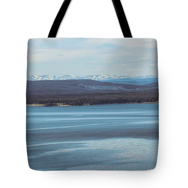 Yellowstone Lake Panorama Tote Bag