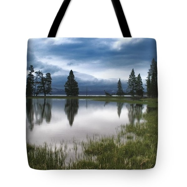 Yellowstone Lake Reflection Tote Bag