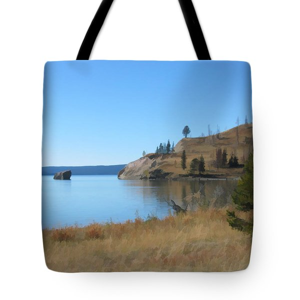 Yellowstone Lake Se Tote Bag by Gary Baird