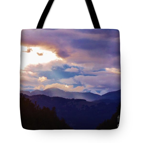 Tote Bag featuring the photograph Yellowstone by Larry Campbell