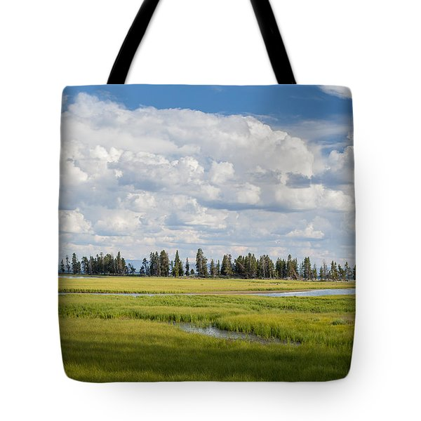 Yellowstone Meadow Tote Bag