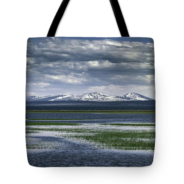 Yellowstone Mountain Scape Tote Bag