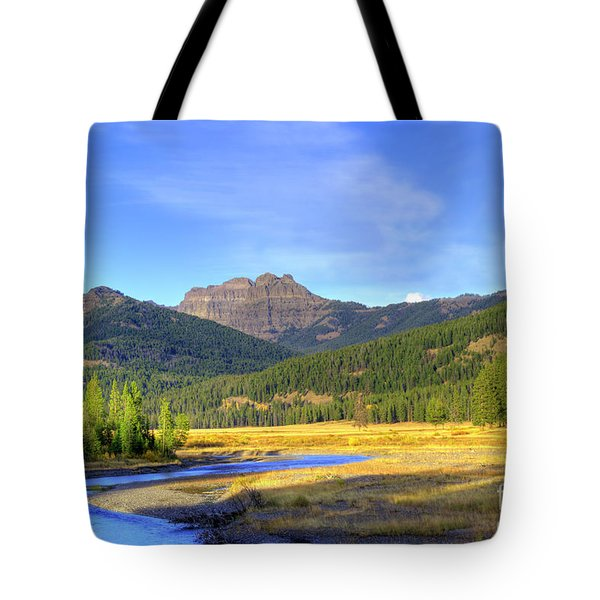 Yellowstone National Park Landscape Tote Bag by Juli Scalzi