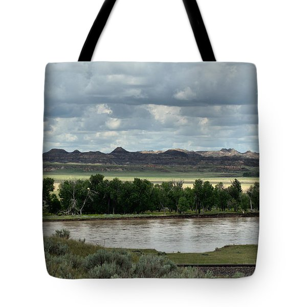 Yellowstone River After The Storm Tote Bag by Aliceann Carlton