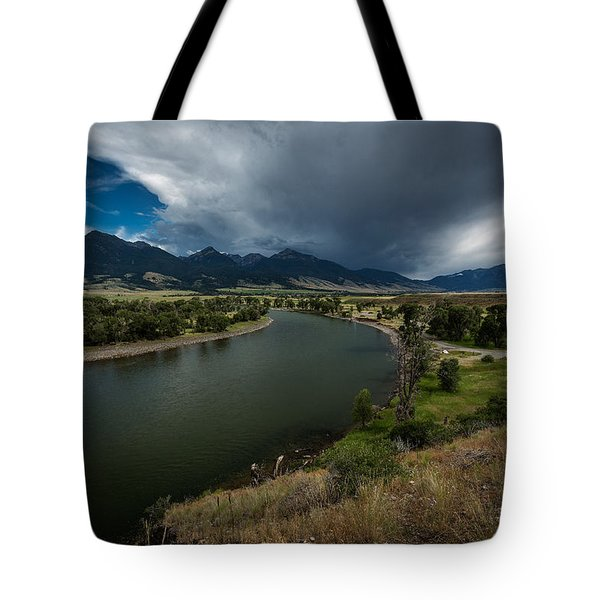 Yellowstone River Camp Tote Bag