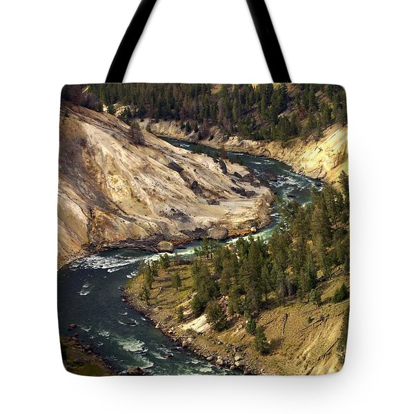 Yellowstone River Canyon Tote Bag by Marty Koch