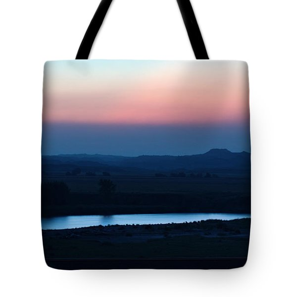 Yellowstone River Evening Tote Bag by Aliceann Carlton