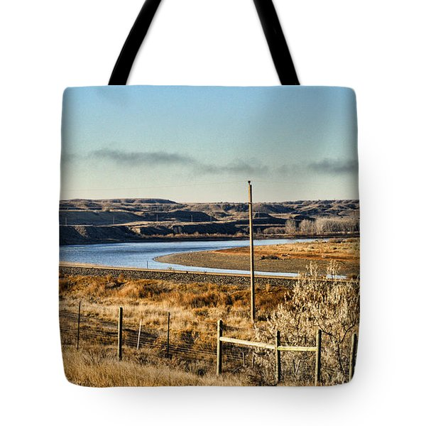 Yellowstone River View Tote Bag by Aliceann Carlton