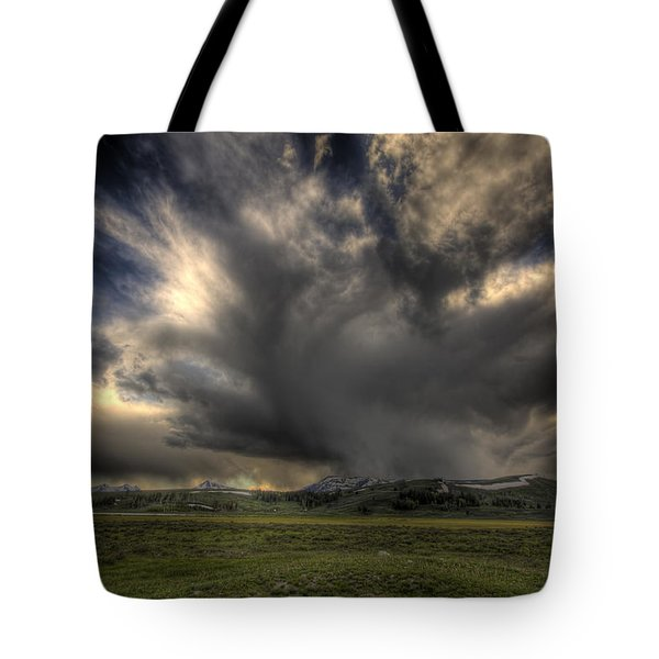 Yellowstone Storm Tote Bag