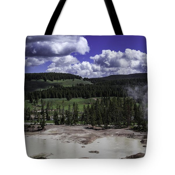Tote Bag featuring the photograph Yellowstone Tar Pits by Jason Moynihan