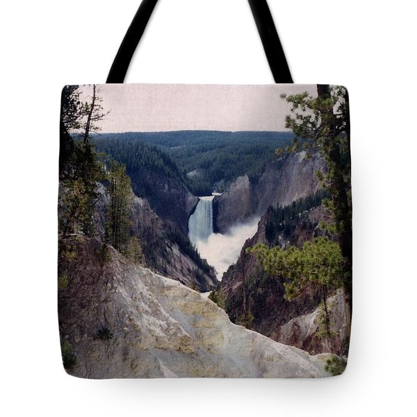 Yellowstone Water Fall Tote Bag