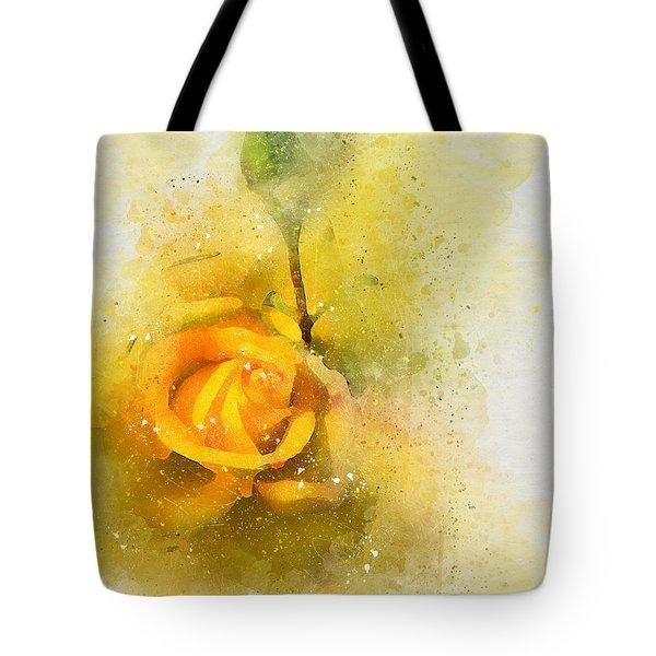 Yelow Rose Tote Bag