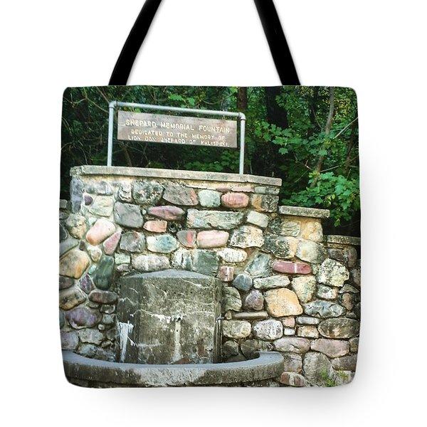 Shepherd Fountain Tote Bag