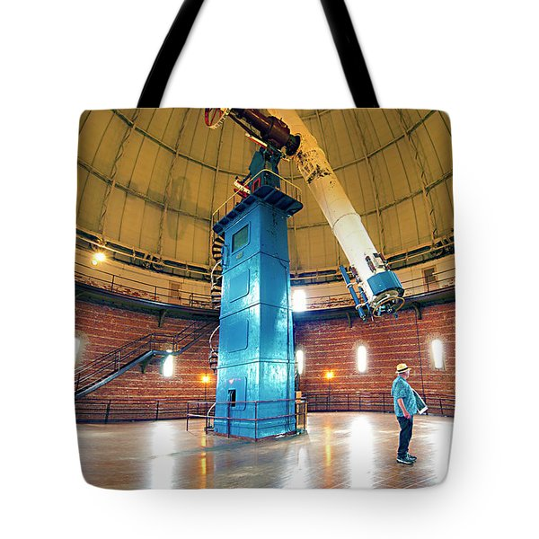 Tote Bag featuring the photograph Yerkes Observatory Williams Bay Telescope  by Tom Jelen