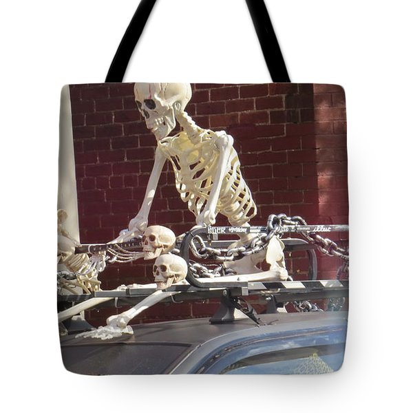 Tote Bag featuring the photograph Yes It Is Halloween by Jeanette Oberholtzer