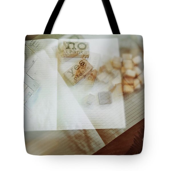 Tote Bag featuring the digital art  Yes Or No by Ariadna De Raadt