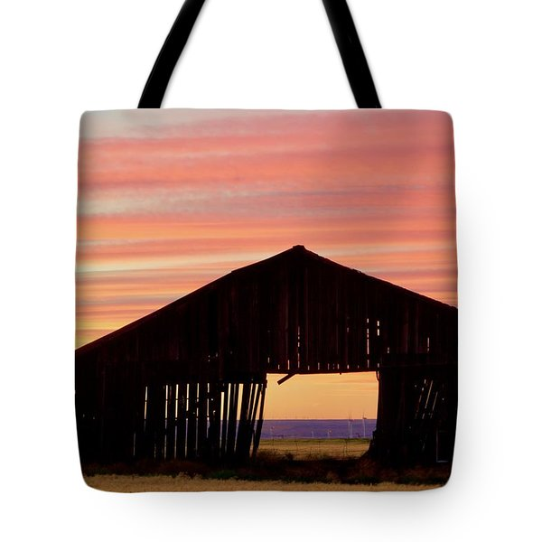 Yesterday And Today At Sunset Tote Bag