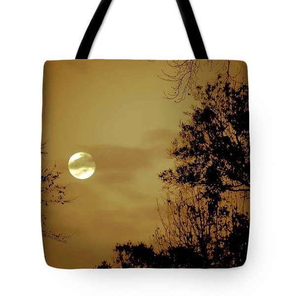 Yesteryears Moon Tote Bag by DigiArt Diaries by Vicky B Fuller